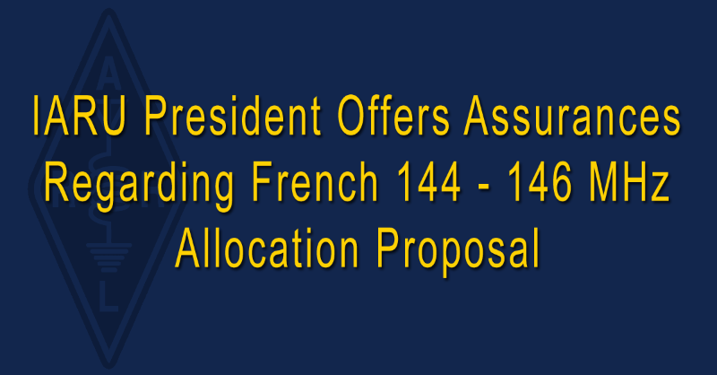 ARRL-NEWS-French-Proposal